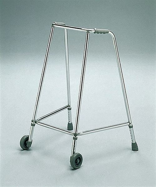 Adjustable height walking frame