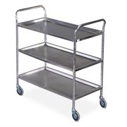 stainless steel 3 shelf trolley